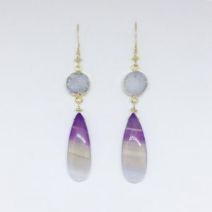 Viola Ombre Earrings