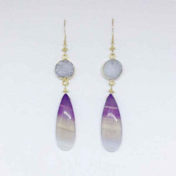 Viola Ombre Earrings