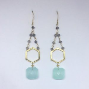Aqua Muse earrings