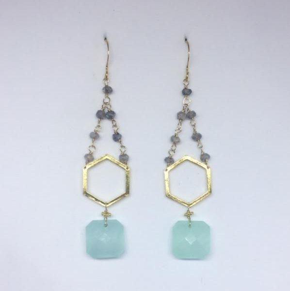 Aqua Muse earrings
